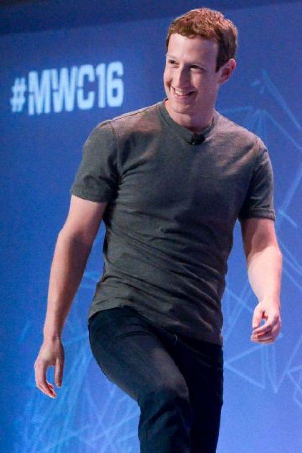Y el fundador de Facebook, Mark Zuckerberg Foto:Getty Images