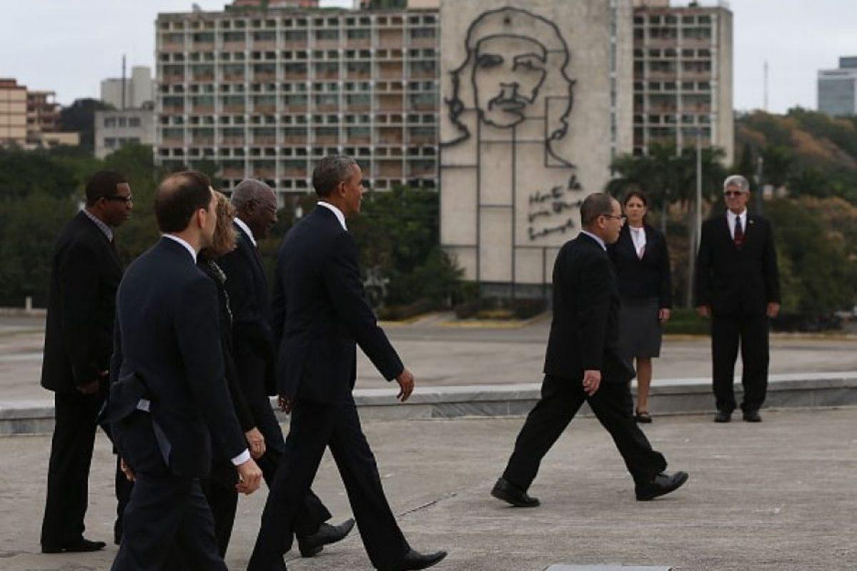 Fue el primer presidente estadounidense en pisar suelo cubano en 88 años Foto:Getty Images
