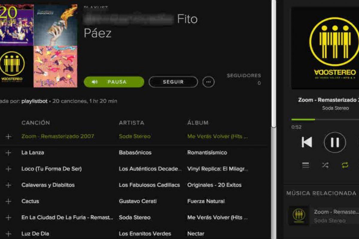 Spotify ya cuenta con un algoritmo para encontrar música de su agrado. Foto:Spotify