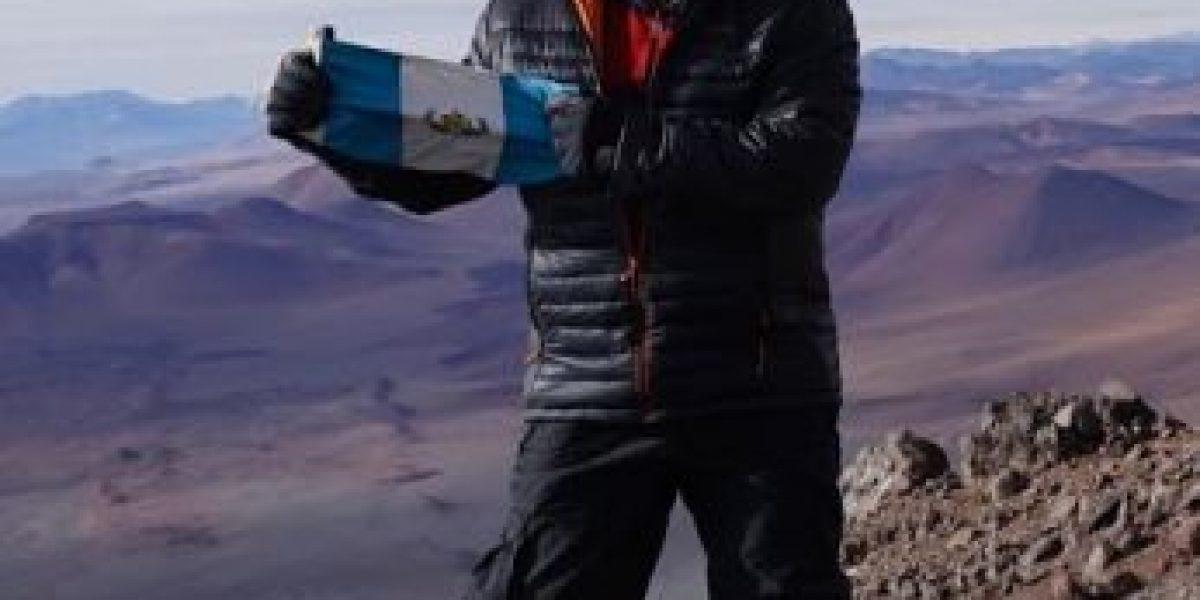 Jaime Viñals conquista el volcán Llullaillaco