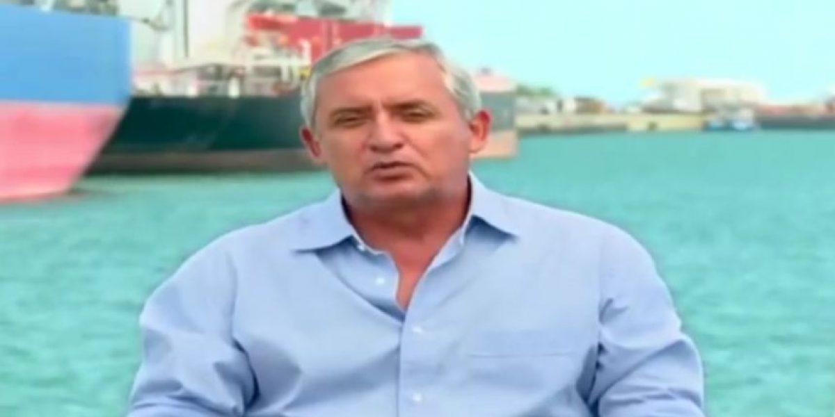 Video. El momento en que Otto Pérez destacó la modernización de la Portuaria Quetzal