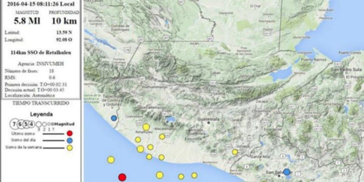 Temblor sacude Guatemala este viernes, 15 de abril de 2016