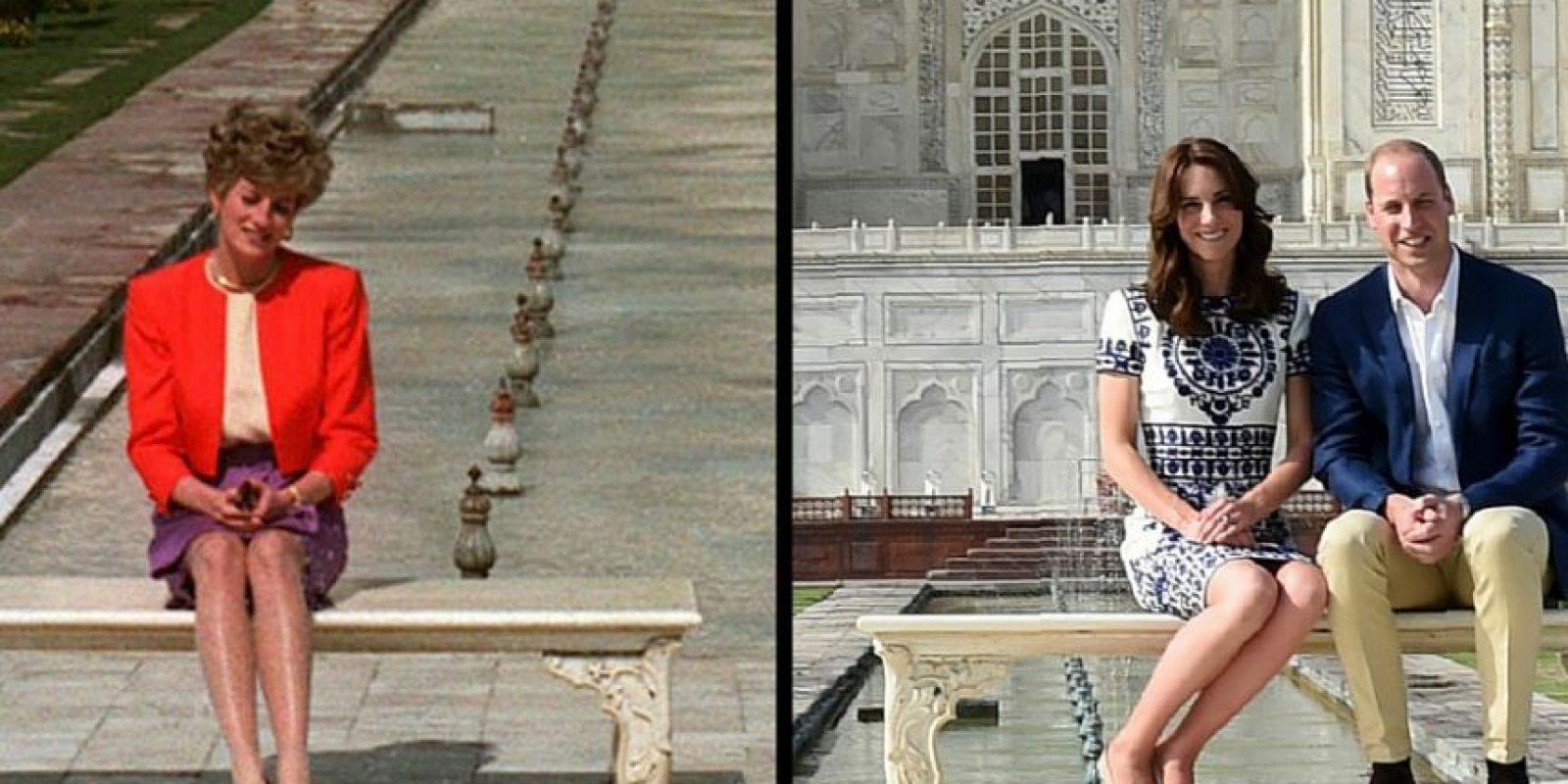Kate Middleton y el Príncipe William, tras los pasos de la Princesa Diana Foto:AP