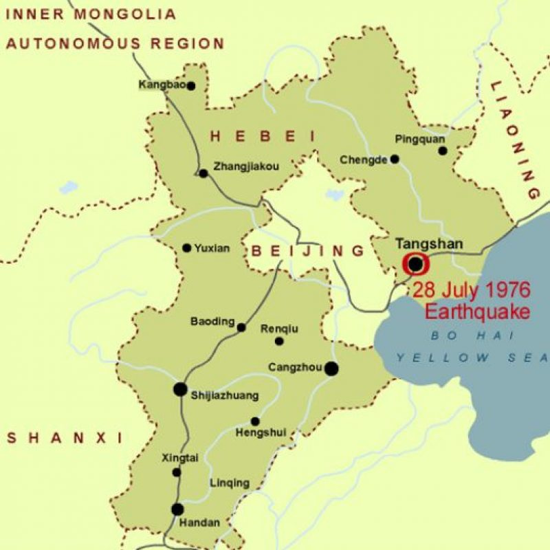 4. 28 de julio 1976, Tangshan, China: Se considera uno de los más mortales en el siglo XX. Foto:Drgeorgepc.com