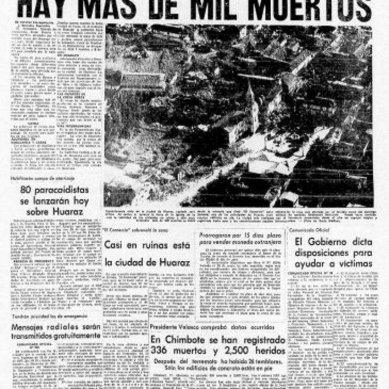 3. 31 de mayo de 1970, Chimbote, Perú: : Más de 50 mil personas fallecidas dejó el terremoto con magnitud de 7.9. Foto:Arkivperu.com