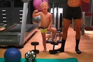 Actualmente, Davy tiene cuatro años y estudia en un colegio de Barcelona. Foto:Vía instagram.com/neymarjr