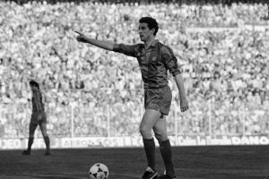 Era lateral izquierdo y llegó al equipo catalán en 1982. Foto:Getty Images
