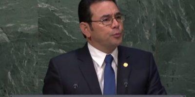 """Morales en la ONU: """"En esta guerra contra las drogas, países como Guatemala, hemos llevado la peor parte"""""""