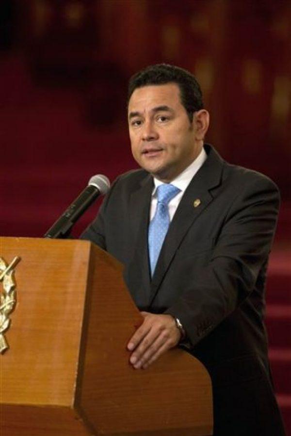 El 14 enero de 2016 ocupó el cargo como mandatario de Guatemala. Foto:AP