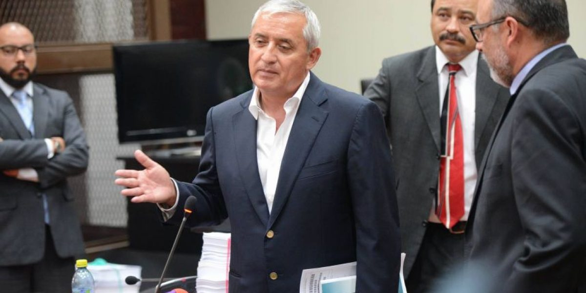 """""""No recibí un centavo de eso"""" dice Otto Pérez Molina acerca de supuesto soborno en caso TCQ"""