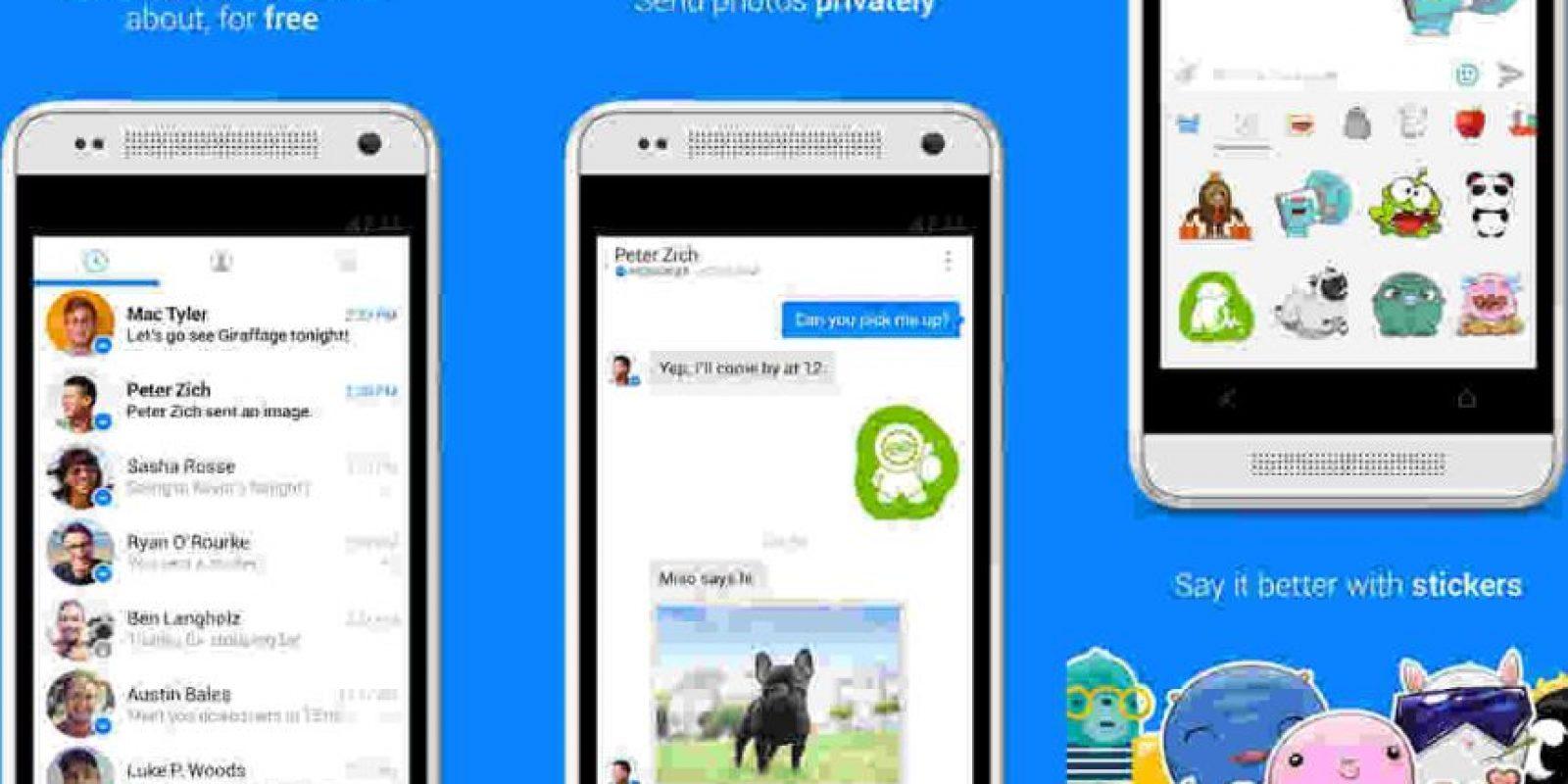 Facebook Messenger nos permite platicar con nuestros contactos de Facebook. Foto:Messenger