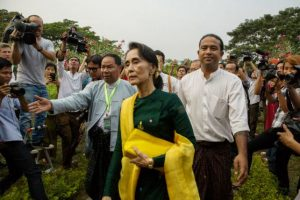 Aung San Suu Kyi. Es una política birmana. En marzo de 2016 asumió los Ministerios de Exteriores, Energía, Educación y la Oficina de la Presidencia. Foto:Getty Images