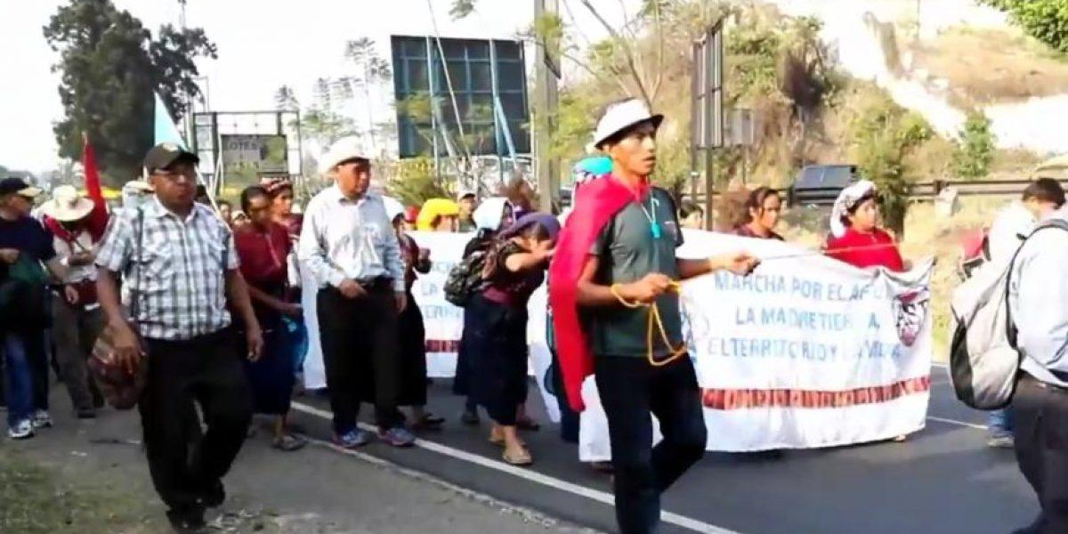 Marcha por el agua avanza hacia la ciudad de Guatemala