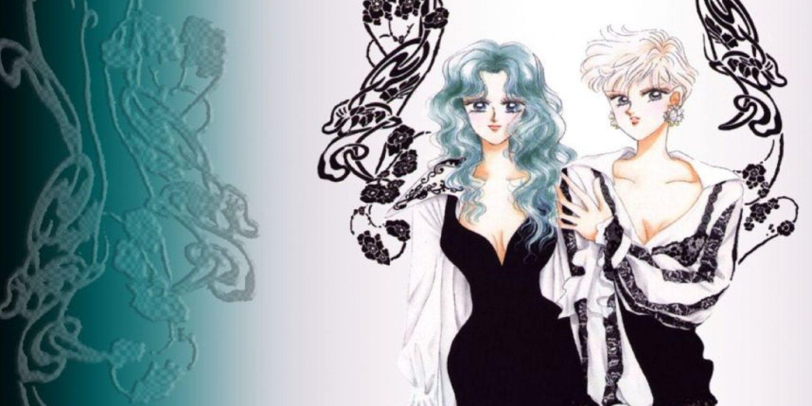 """Haruka nunca representó algo """"masculino"""" como tal en la relación que tiene con Michiru. De hecho, en el artwork de Naoko Takeuchi aparece vestida de mujer y en el manga a veces también. Haruka representa a la mujer moderna japonesa (de ahí su atuendo y peinado) y Michiru es la mujer tradicional y femenina. Por eso siempre están unidas. Foto:Toei"""