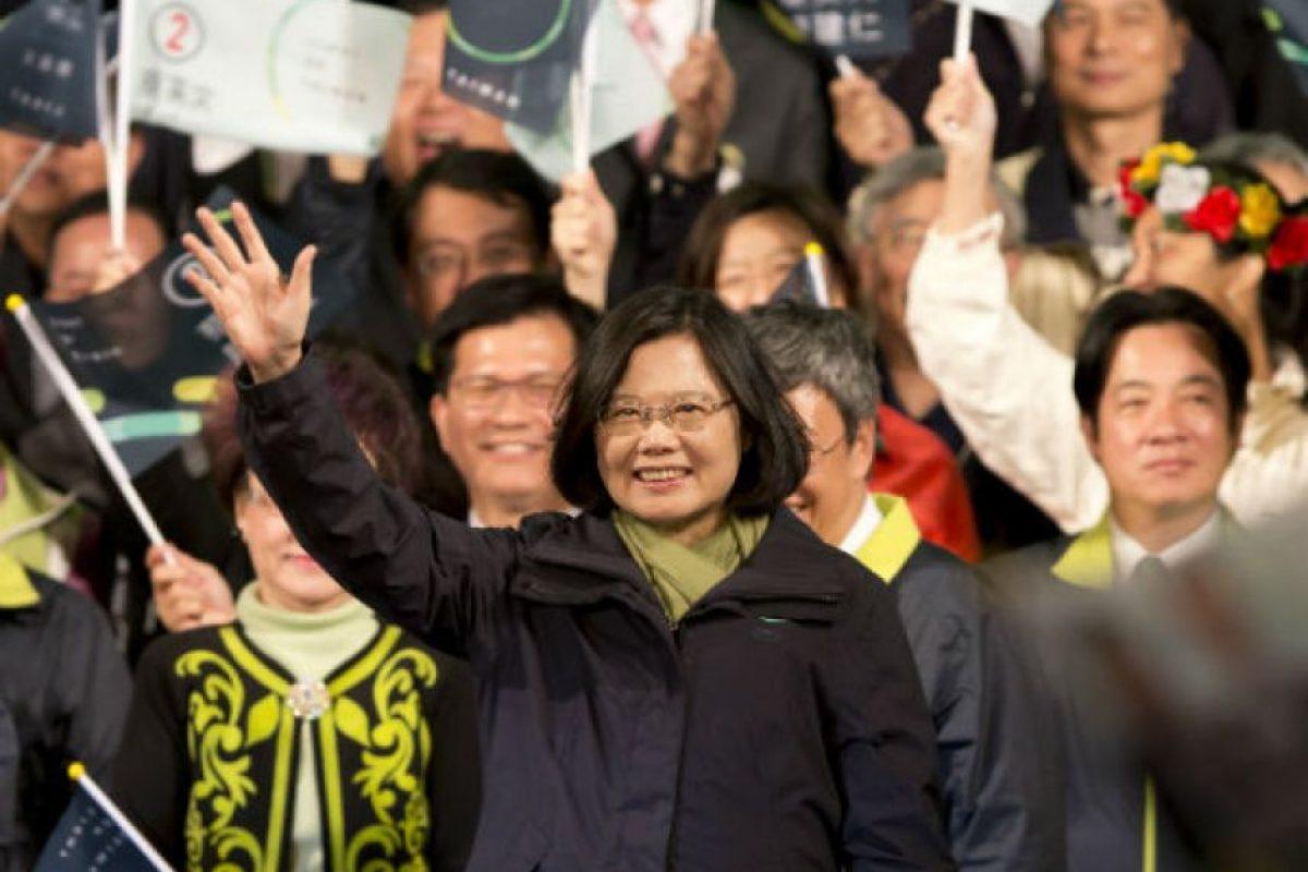 Tsasi Ing-wen. Política taiwanesa expresidenta del Partido Democrático Progresista. Foto:Getty Images