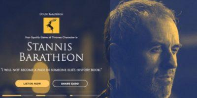 Personaje: Stannis Baratheon. Foto:Spotify