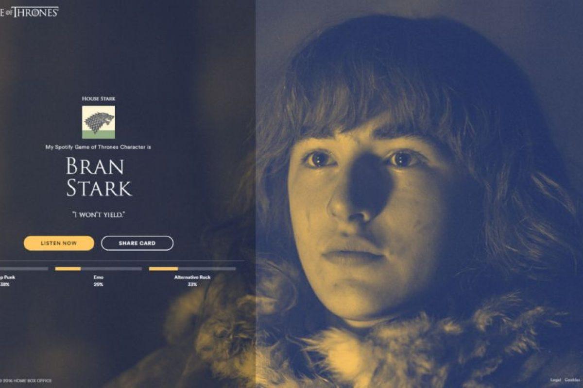 Personaje: Bran Strak Foto:Spotify
