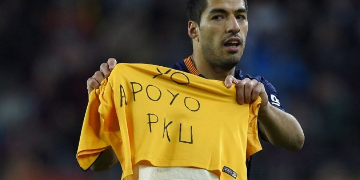 La noble razón de la dedicatoria de Luis Suárez al anotar el primer gol