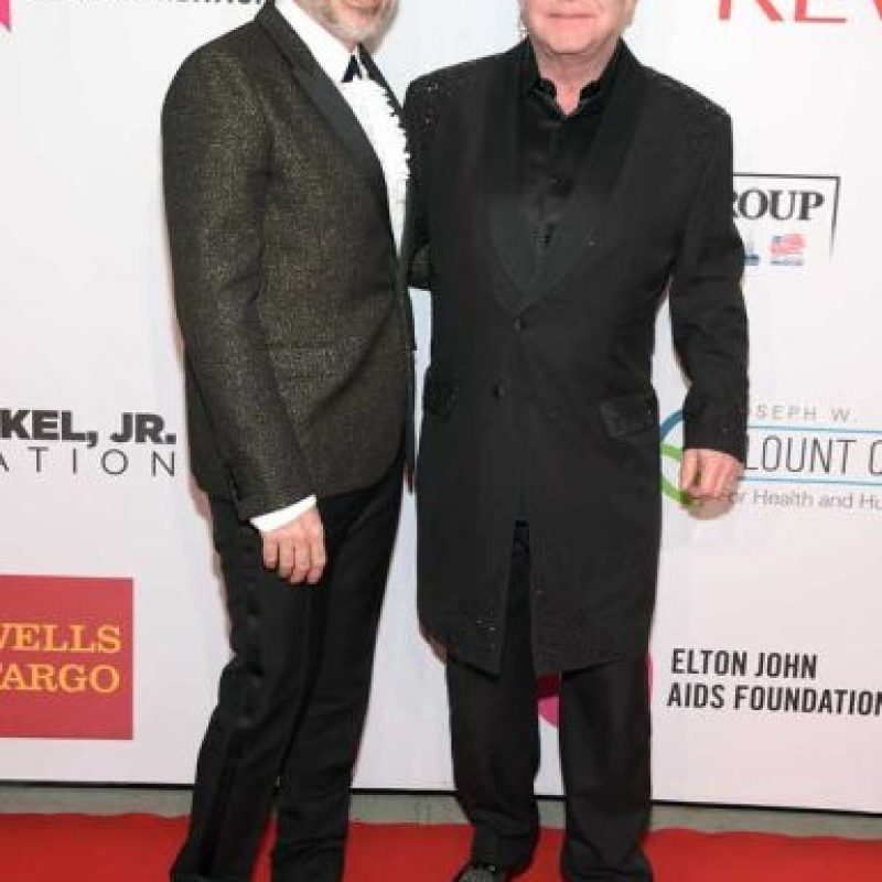 Elton John y David Furnish Foto: Getty Images