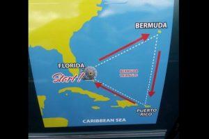 La ruta que sueña cumplir Baluchi abarca el Triángulo de las Bermudas Foto:facebook.com/runwithreza