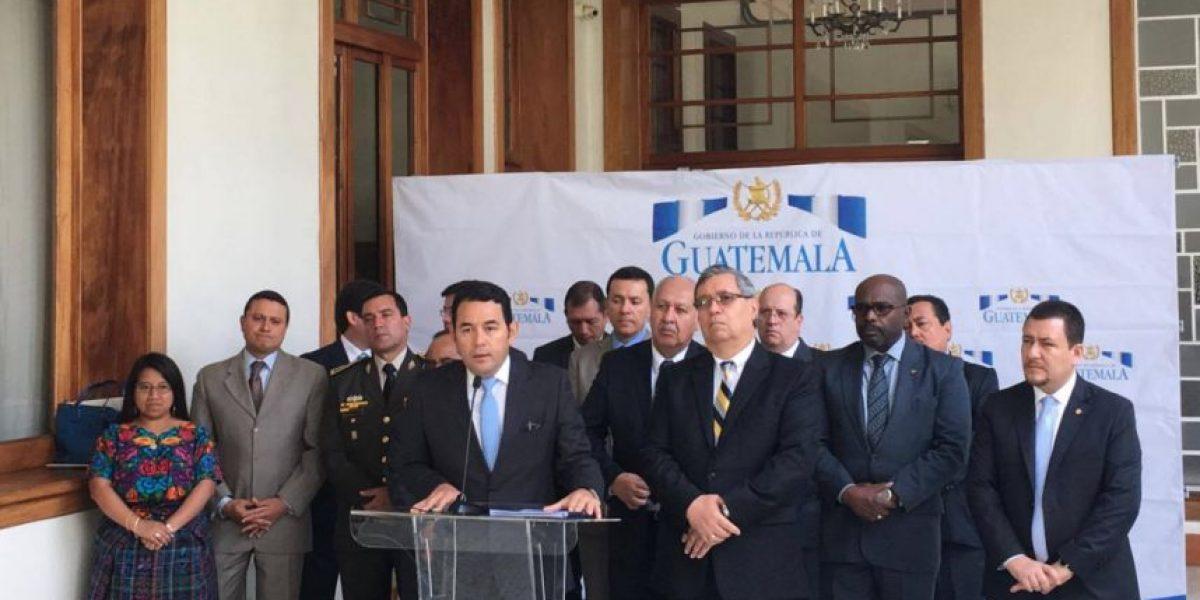 """Jimmy Morales acerca de sus 100 días de gobierno: """"Yo también estoy insatisfecho"""""""