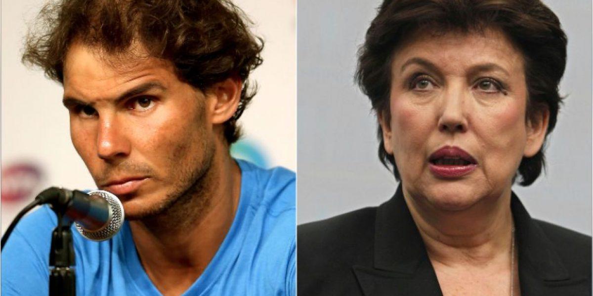 Tenista Rafael Nadal demanda a exministra francesa por haberlo acusado de dopaje