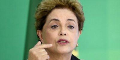 Durante una conferencia de prensa, Dilma aseguró que tiene la conciencia limpia Foto:AFP
