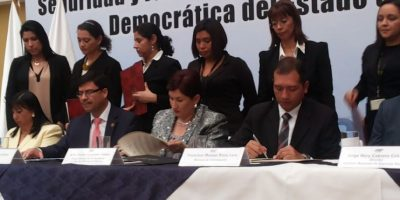 Sector público y privado firman compromiso a favor de la seguridad y justicia
