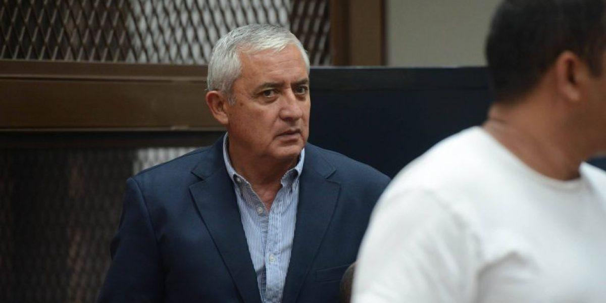 Pérez Molina dice que el Ministerio Público presiona a los jueces