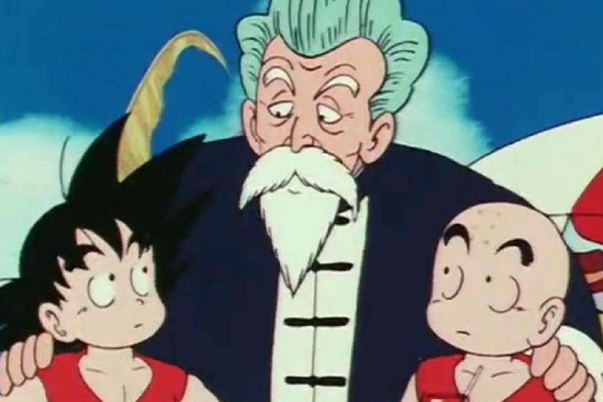 """El maestro Roshi es el primer entrenador de Gokú luego de su abuelo. Ama a las mujeres jóvenes y verlas desnudas. Compitió contra su alumno en el Torneo de las Artes Marciales como """"Jackie Chun"""" Foto:Toei"""