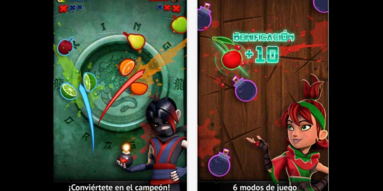 "Prueben sus reflejos con ""Fruit Ninja"". Foto:App Store"