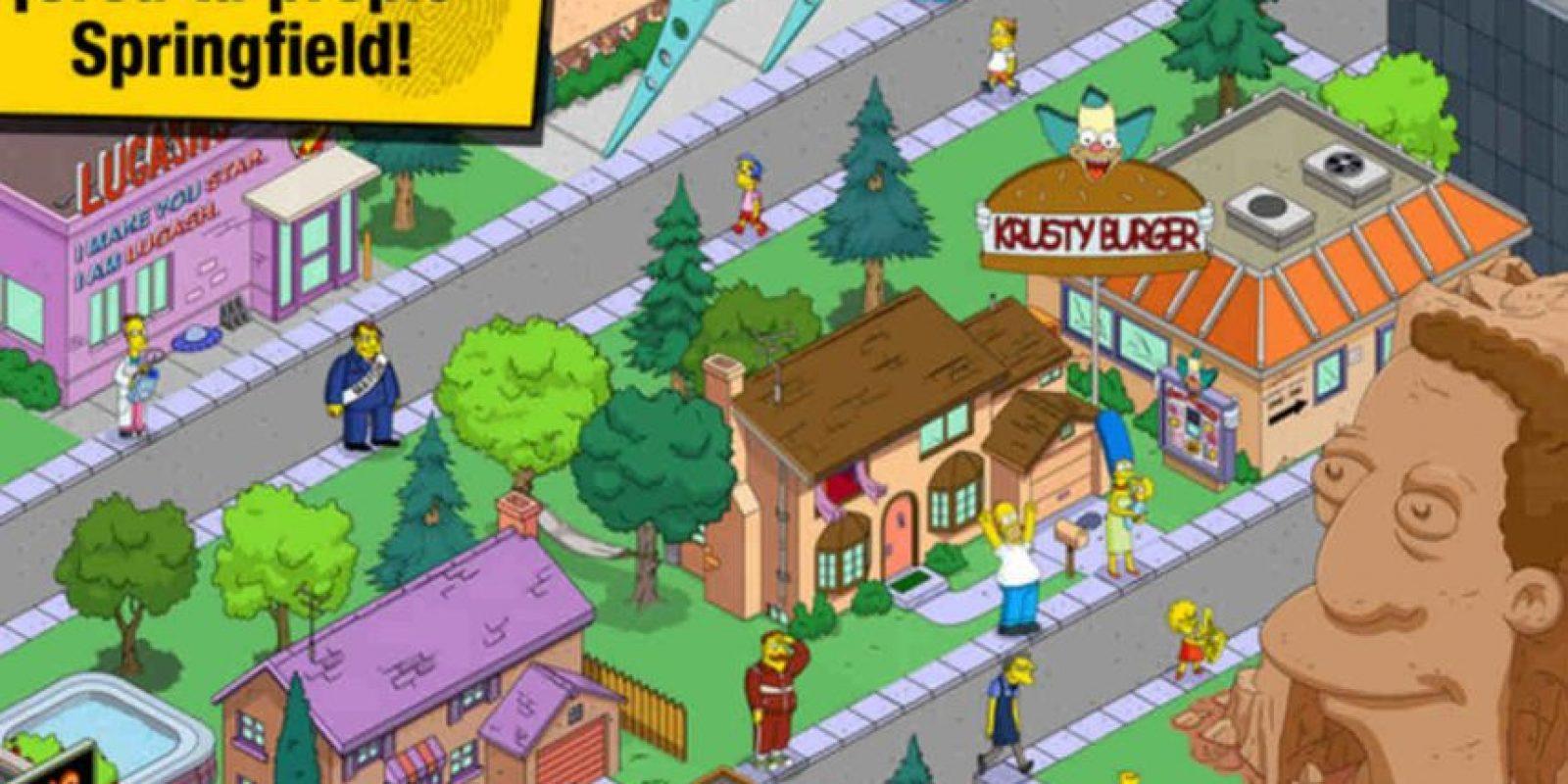 """""""Los Simpson: Springfield"""" nos hará pasar horas de entretenimiento. Foto:App Store"""