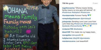 """Ohana significa familia y familia significa que nadie se quede solo"" Foto:Instagram.com/togetherwerise/"