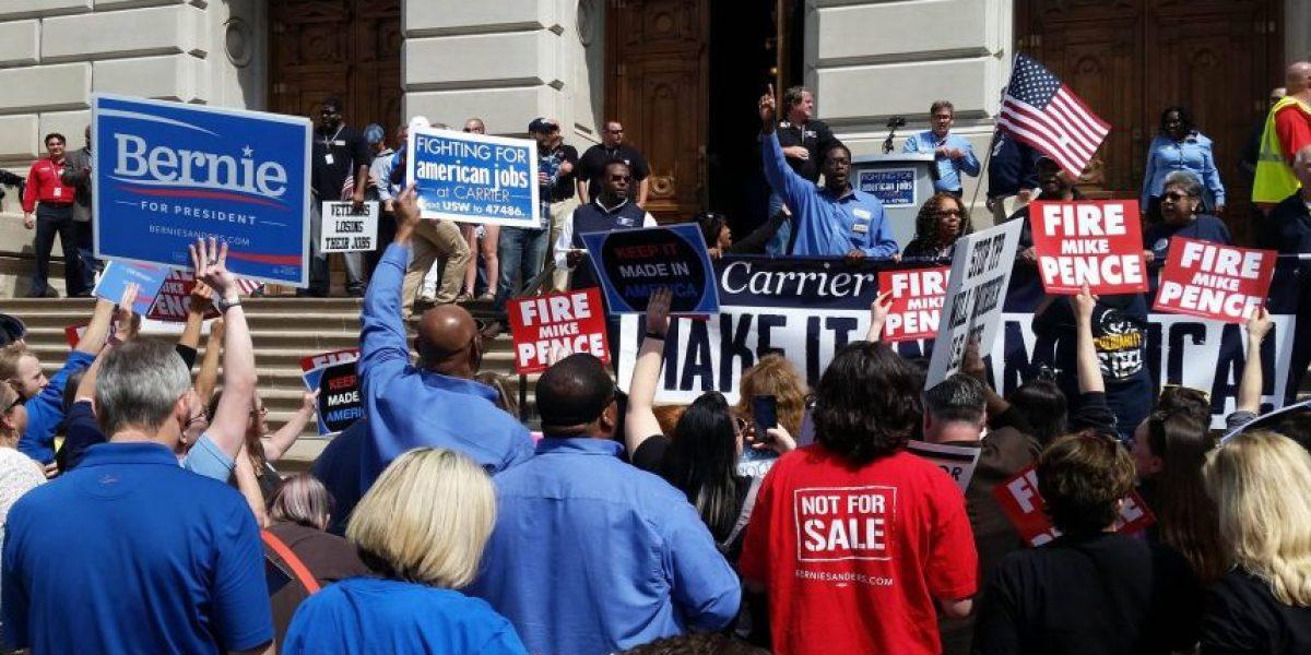 EE.UU.: Protestas por pérdida de empleos, en antesala a elecciones primarias de Indiana