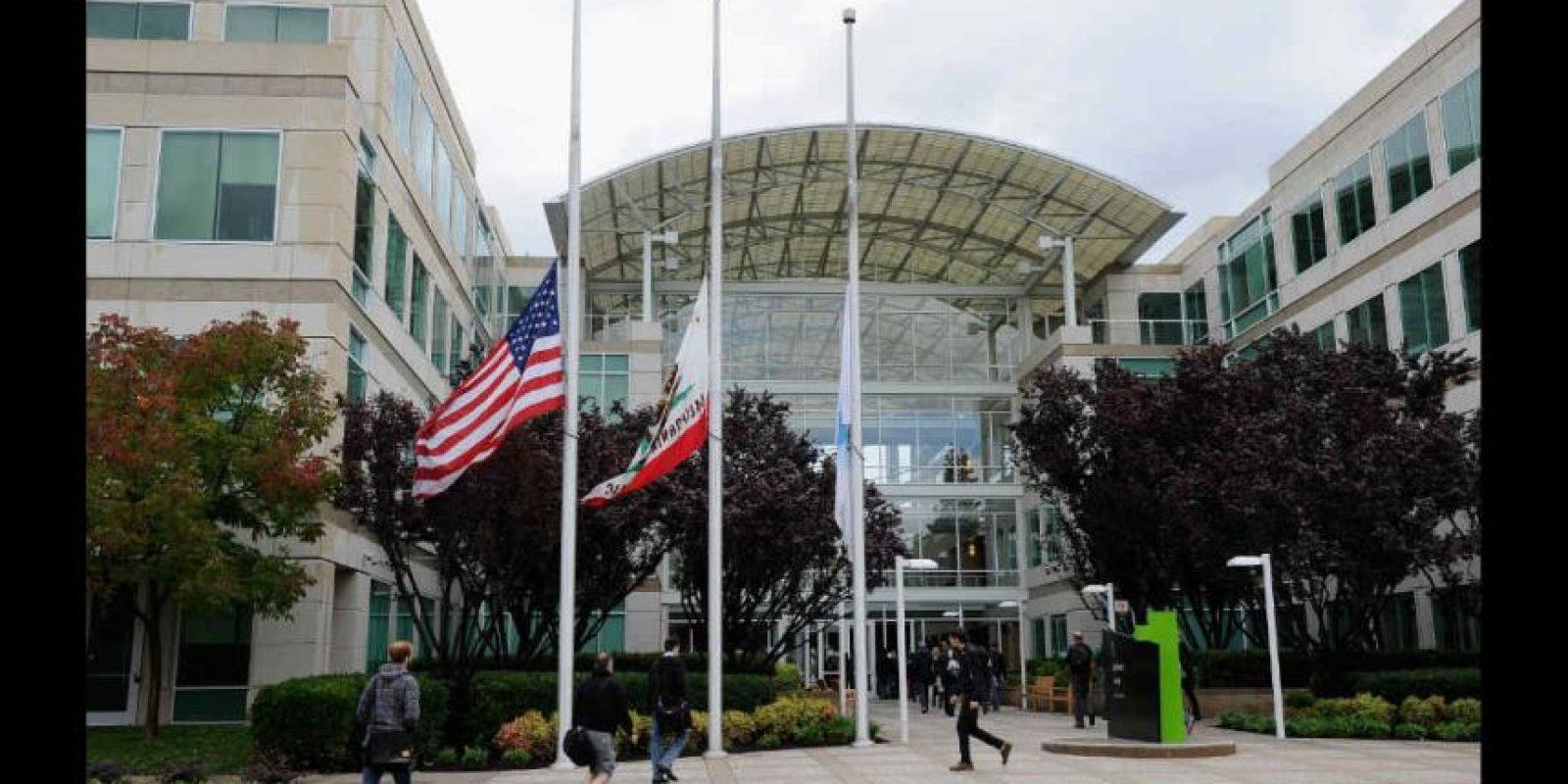 Dentro de las oficinas de Apple en Cupertino hay árboles reales. Foto:Getty Images