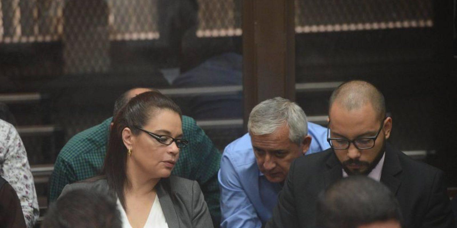 Pérez y Baldetti conversan por la acusación de la CICIG. Foto:Luis Nájera