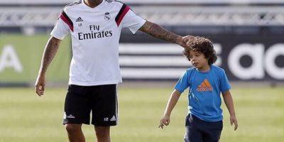 Marcelo ha llevado al entrenamiento del Real Madrid a su hijo Enzo Gattuso Foto:Instagram: @marcelotwelve