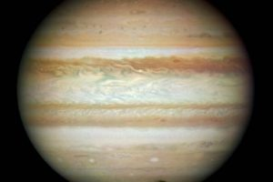 Júpiter es uno de los cuerpos más grandes del Sistema Solar. Es apenas un poco más pequeño que el Sol. Foto:Getty Images