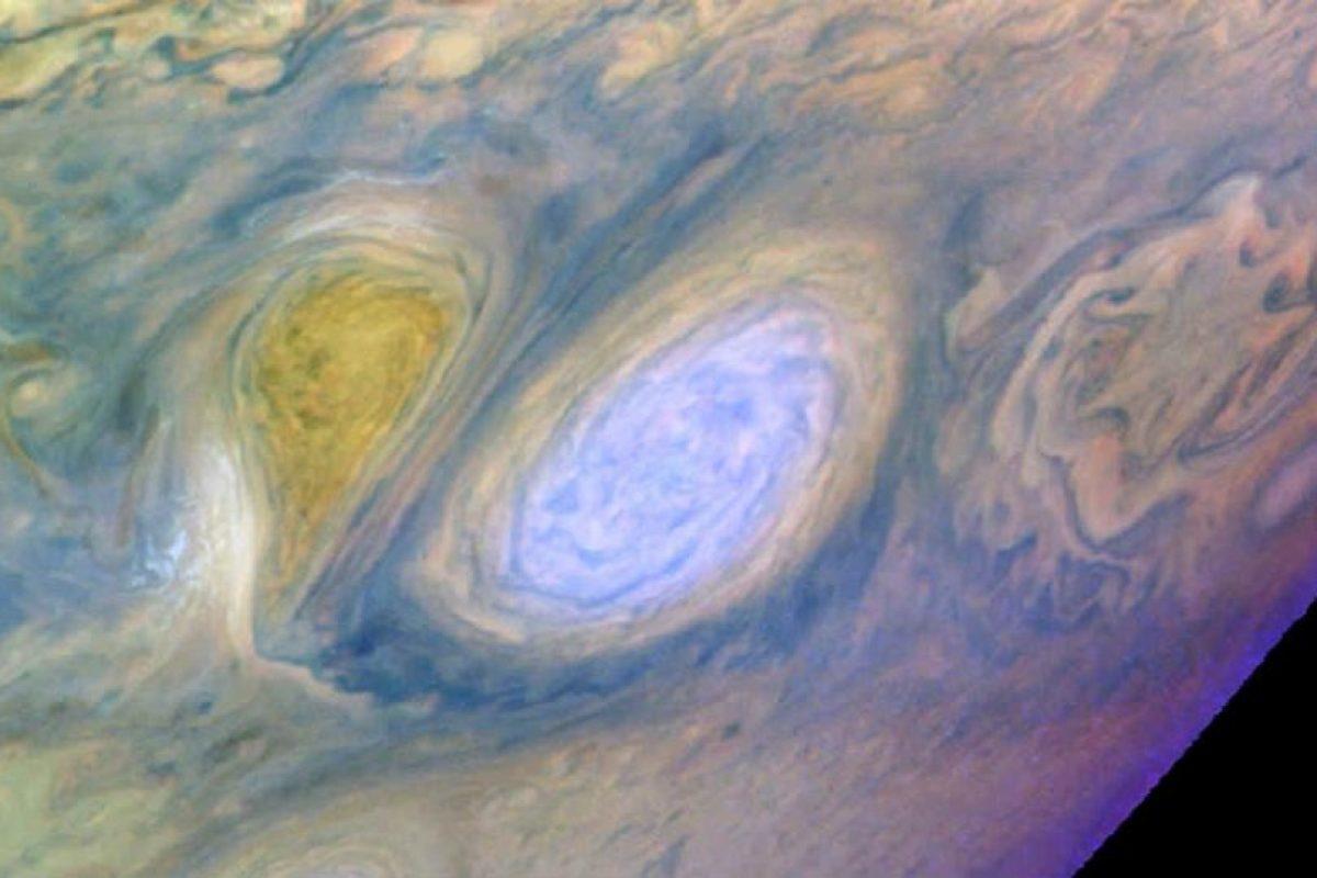"""""""La Gran Mancha"""" de Júpiter se trata de una tormenta que se formó hace alrededor de 350 años y aún no desaparece. Foto:Getty Images"""