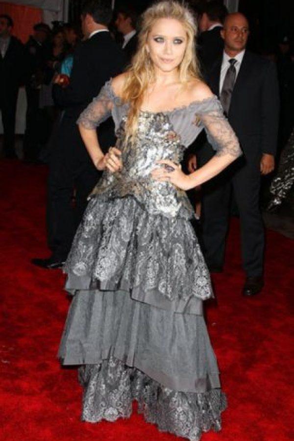 """Mary Kate Olsen en 2009, parecía la versión """"grunge"""" de Elsa de """"Frozen"""". Foto:vía Getty Images"""