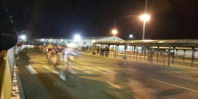 La carámbola obligo a suspender la carrera Foto:Twitter