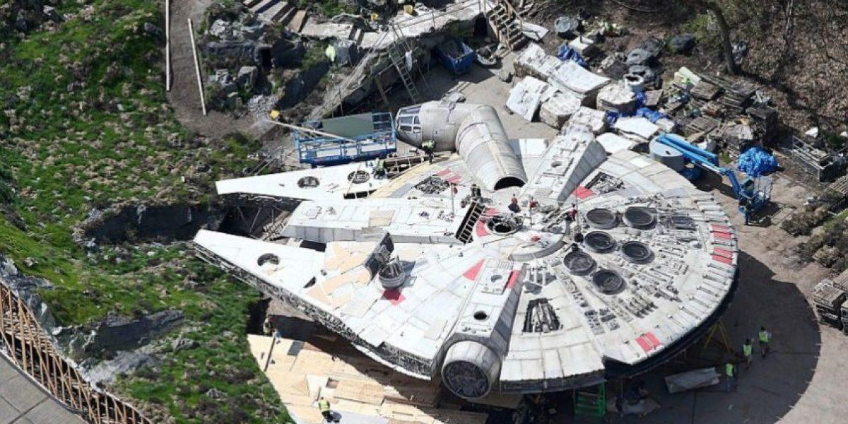 """Revelan las primeras fotos del """"Halcón  Milenario"""" de """"Star Wars VIII"""""""