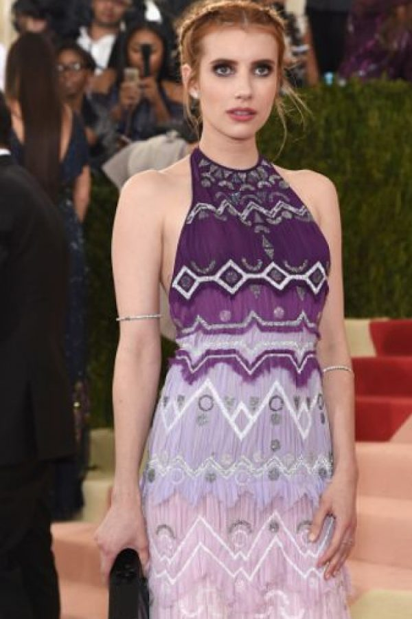 Emma Roberts de estampados. ¿Y? Foto: vía Getty Images