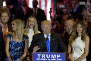 Durante su discurso Trump aseguró que ganaría las elecciones en noviembre. Foto:AP