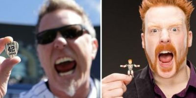 James Hetfield, vocalista de Metallica, y Sheamus Foto: Twitter