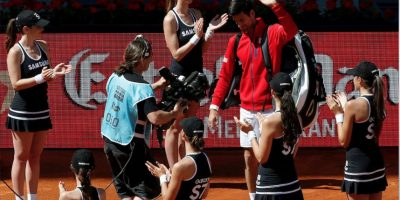 El rey del tenis hace su entrada triunfal en Madrid