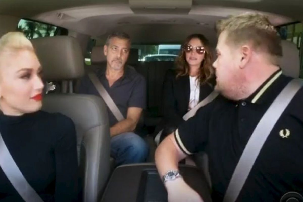 Gwen Stefani, Julia Roberts y George Clooney Foto: Vía Youtube/LateLateShow