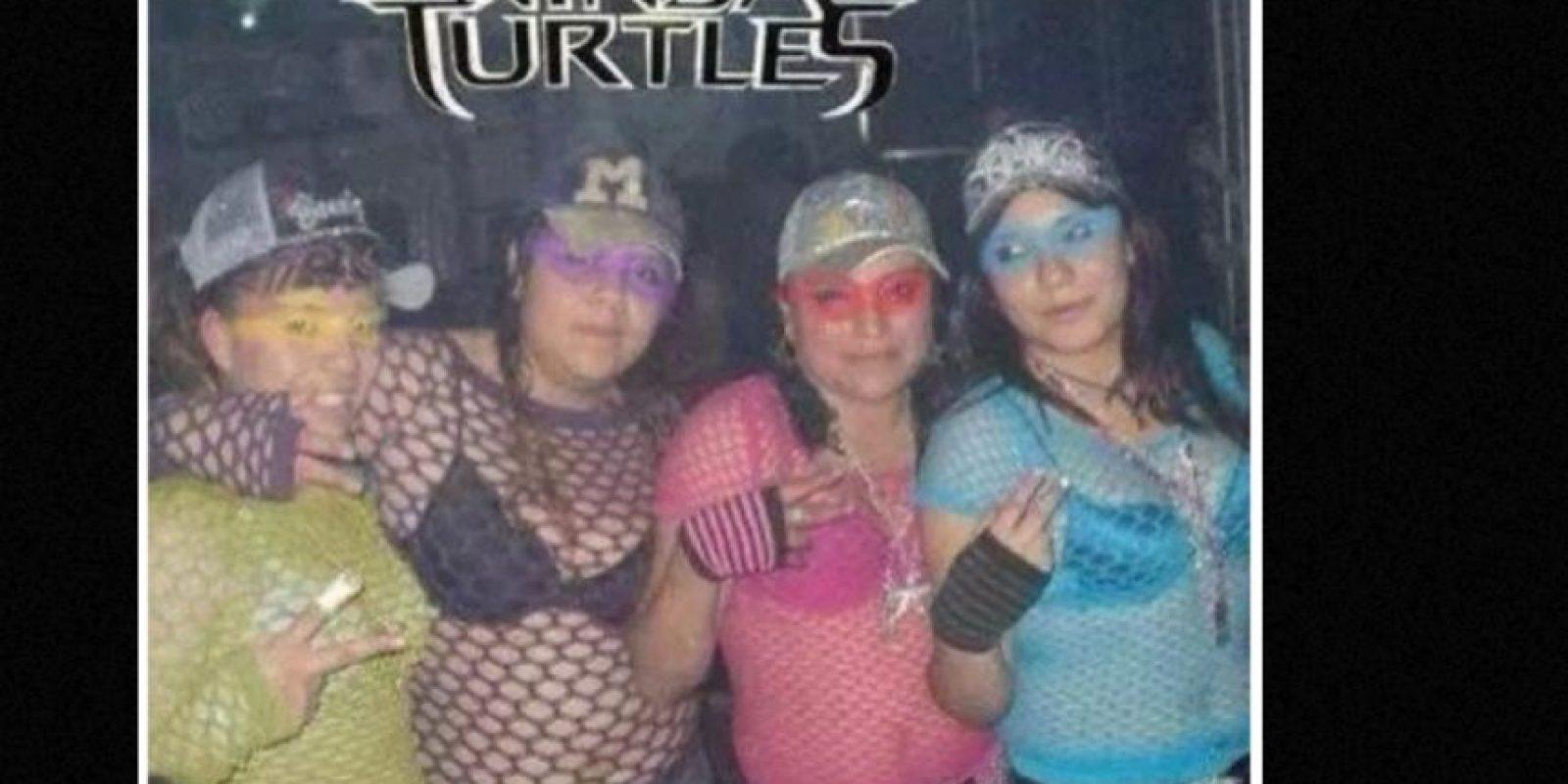 Las que se disfrazaron de las Tortugas Ninja. Foto:vía Tumblr