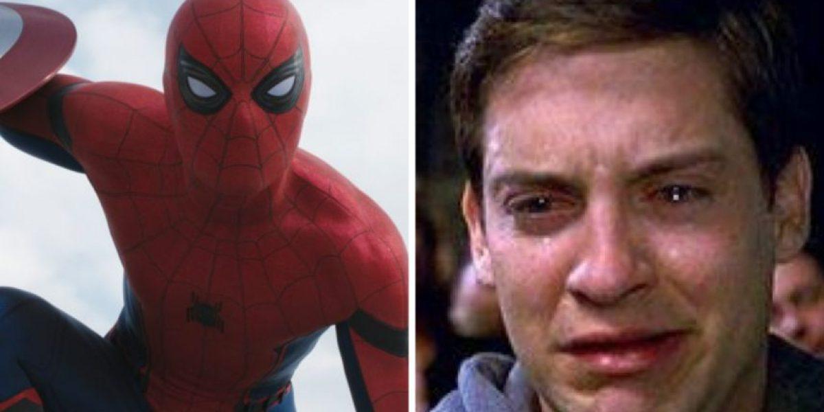 La reacción de Tobey Maguire al ver al nuevo Spider-Man en