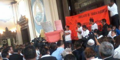 Taracena rechaza chantajes y extorsiones de sindicalistas